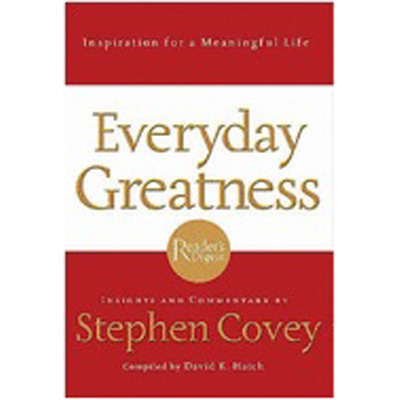 EVERYDAY GREATNESS ITP COVEY, S & HATCH, D